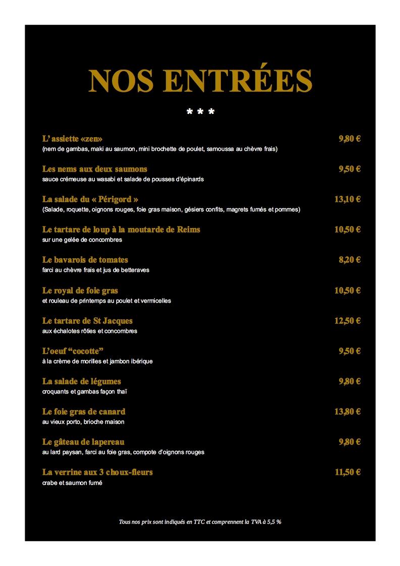 Exemples De Menu De Restaurant Impressionmenu