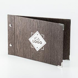 texturé à vis A5H Bois foncé A5H Texture bois foncé - ImpressionMenu