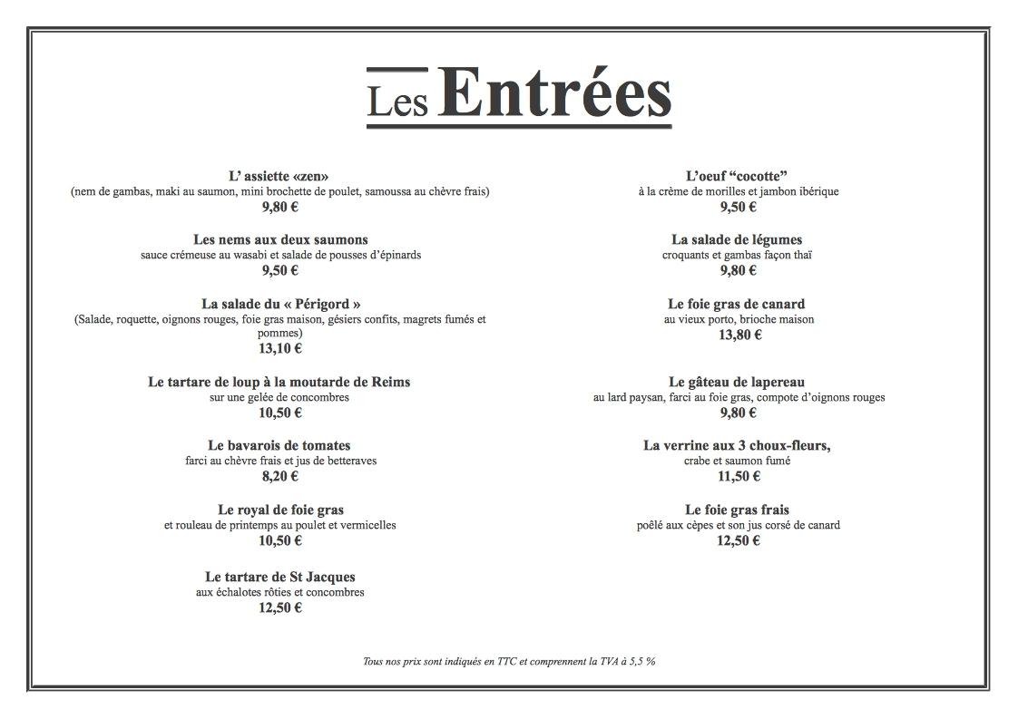 Souvent carte restaurant exemple ek97 montrealeast for Four pour restaurant