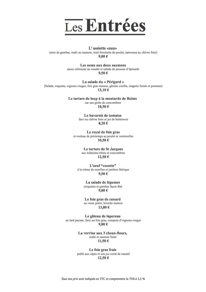 Exemple De Menu Restaurant A4 Vertical Gratuit Impressionmenu